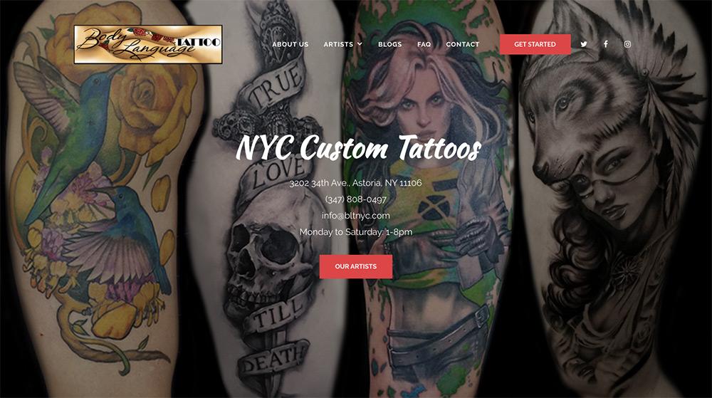 Body Language Tattoo, NYC