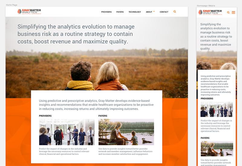 Gray Matter Analytics, Home Page Design