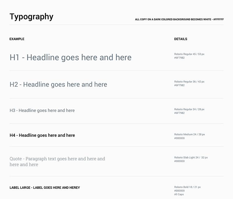 Gray Matter Analytics, Typography