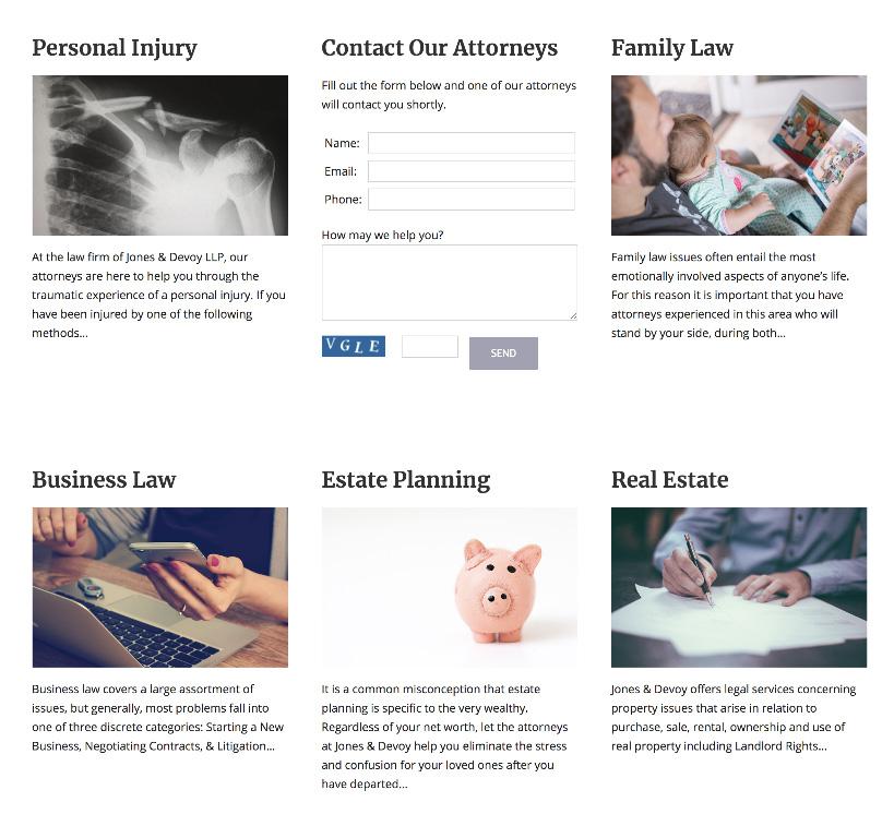 Jones & Devoy Website