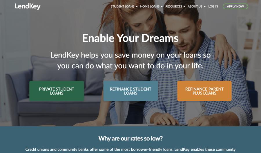 LendKey Home Page