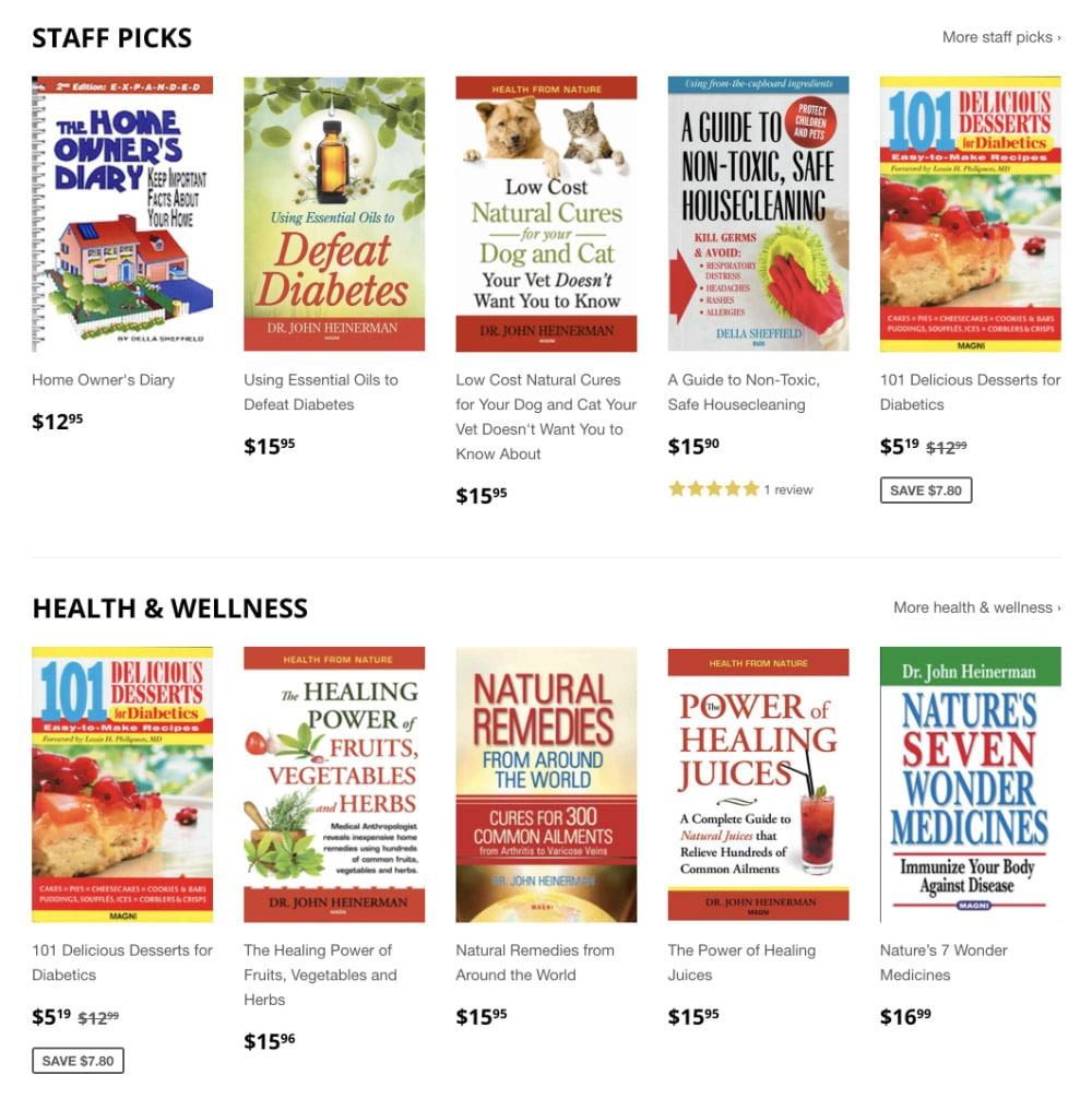 Magni Books website