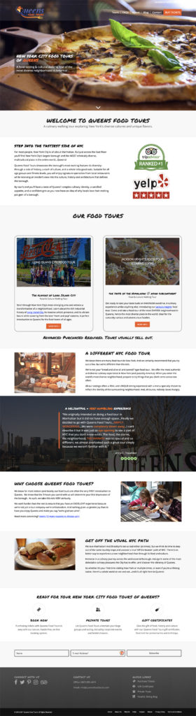 Queens Food Tours website