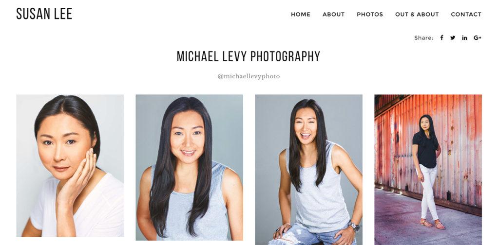 Asian Model Susan Lee's Website