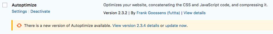 WordPress Plugin Update Now