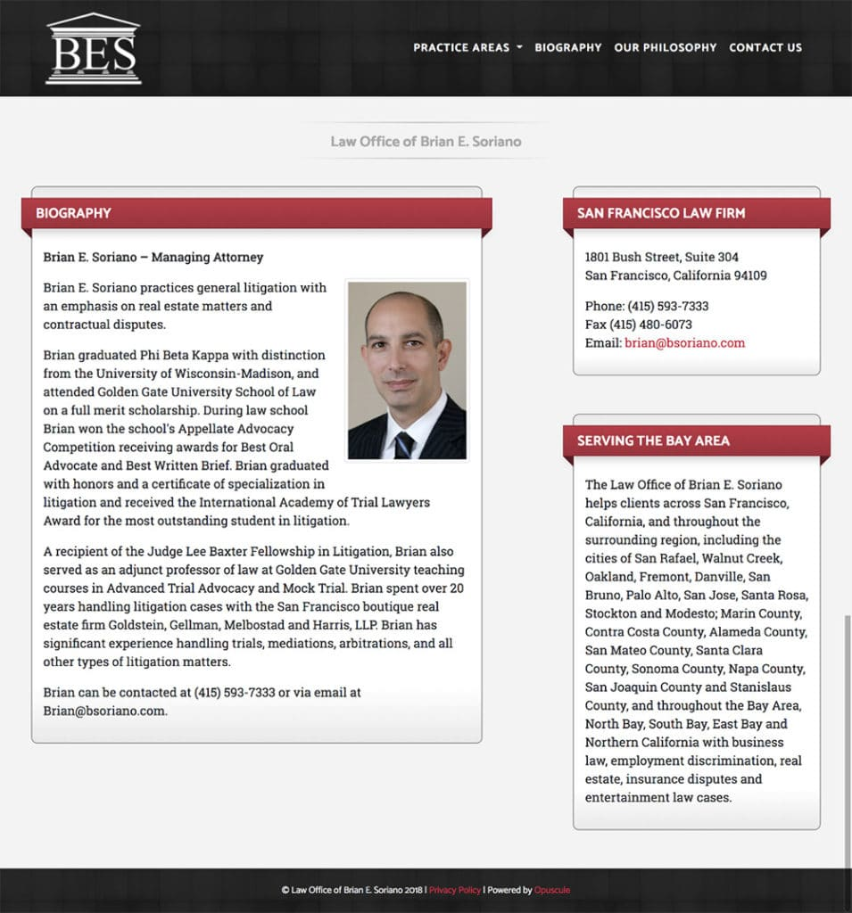 Brian E. Soriano Biography