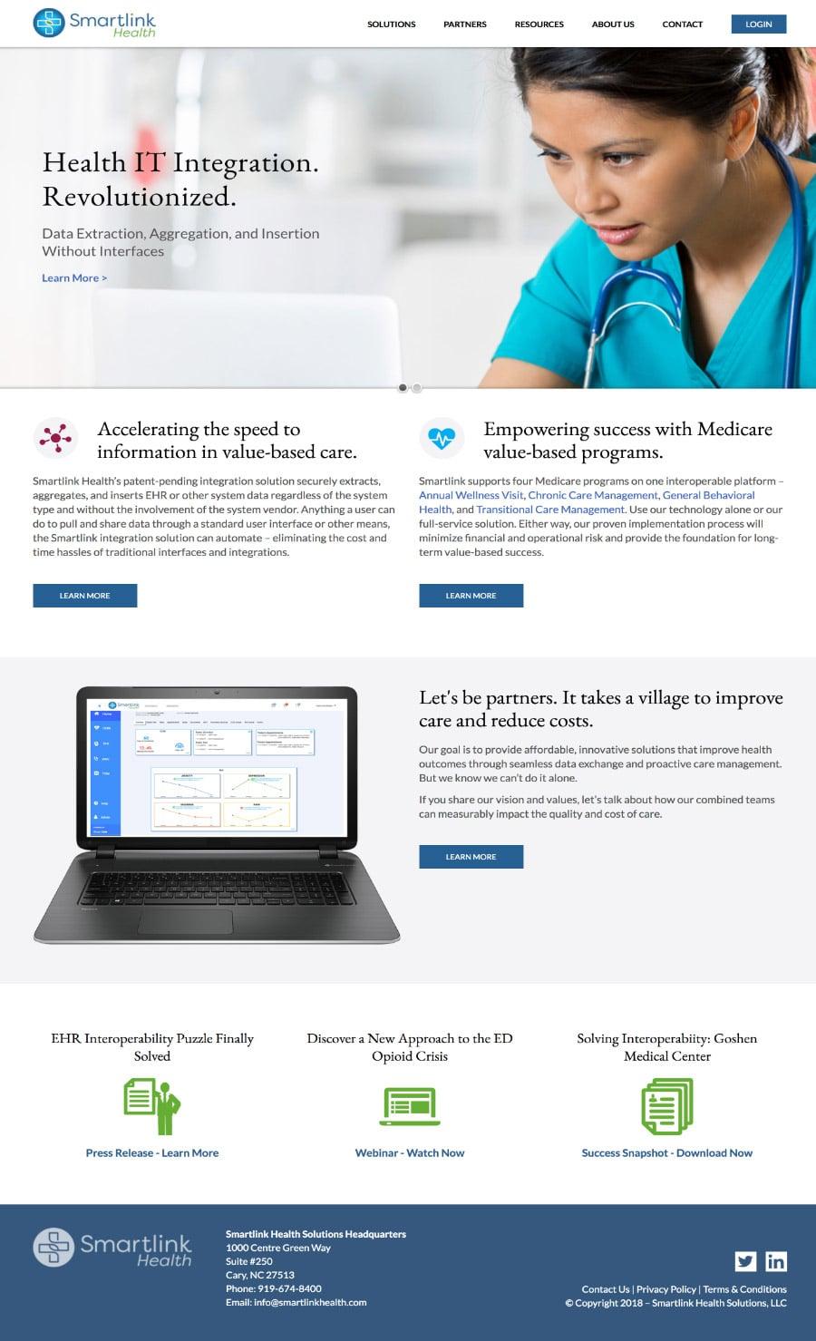 Smartlink Health home page