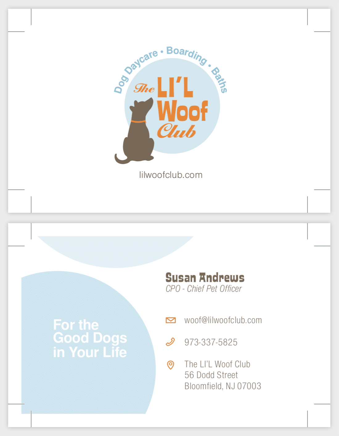 LI'L Woof Club Business Cards