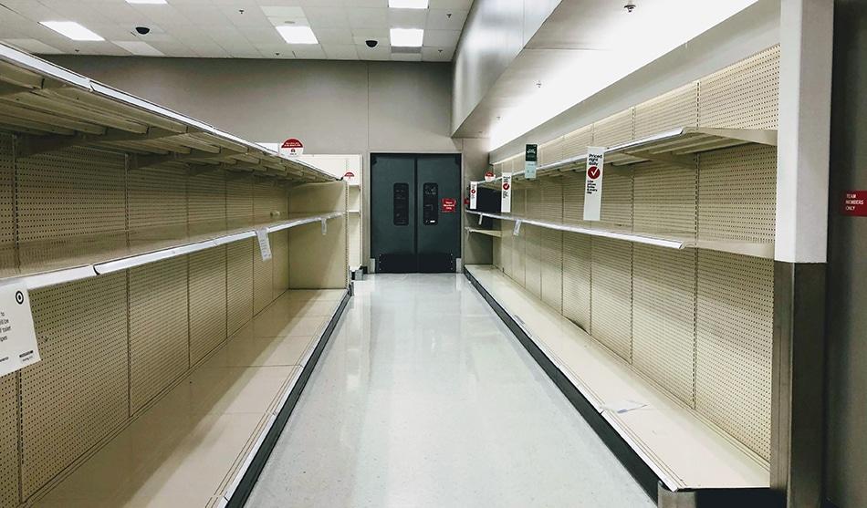 Empty Shelves in COVID
