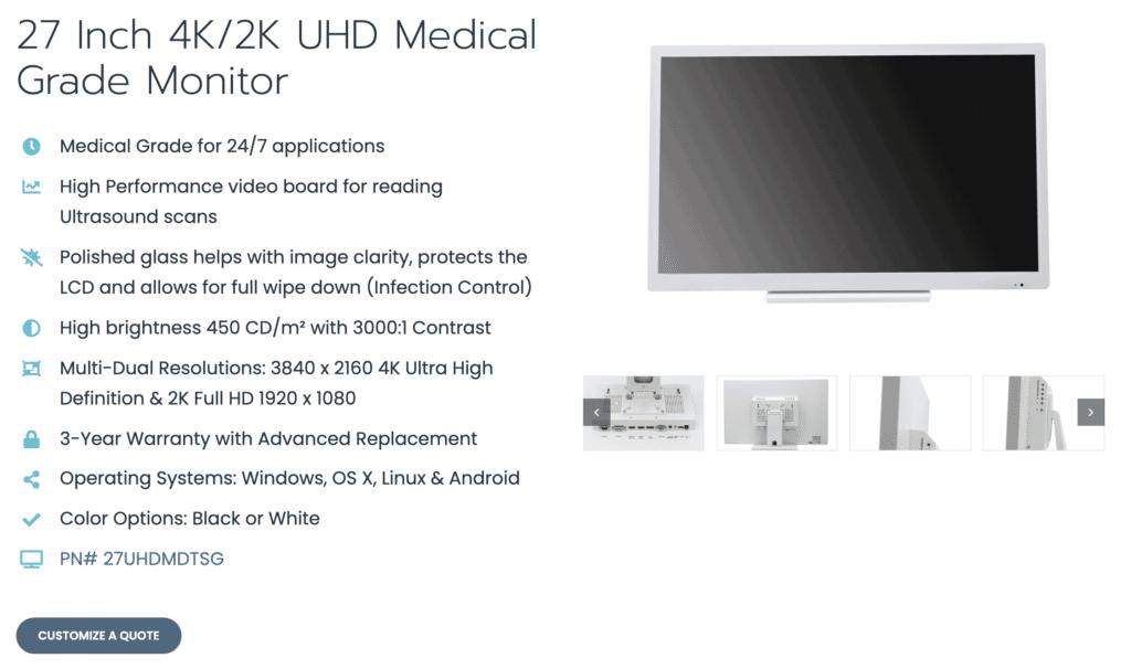 Touch Screen Guru Medical Grade Monitor